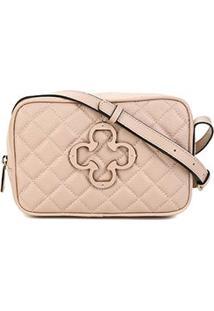 Bolsa Couro Capodarte Mini Bag Feminina - Feminino-Nude