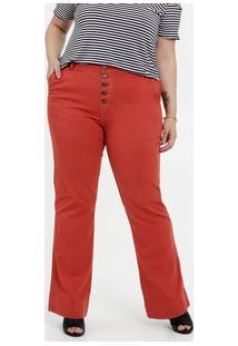 Calça Feminina Jeans Flare Plus Size Marisa