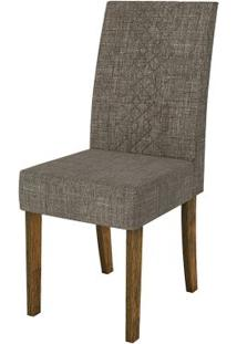 Cadeira Olímpia 2 Peças - Demolição Com Linho Bronze