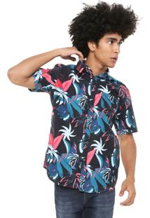 Camisa Billabong Reta Sundays Tropical Azul