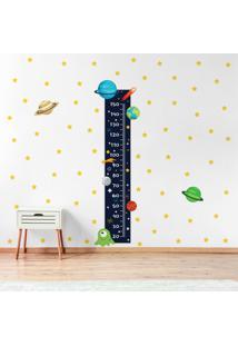 Adesivo De Parede Infantil Régua Sistema Solar