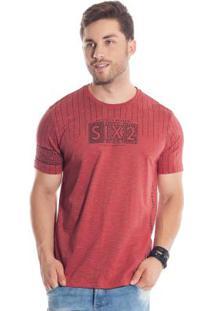 Camiseta Six2 Vermelho Bgo