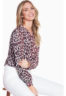Camisa Animal Print Girafa