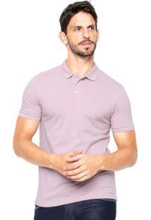 Camisa Polo Vr Logo Rosa