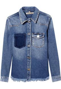 Camisa John John Exeter Jeans Azul Feminina (Jeans Medio, G)