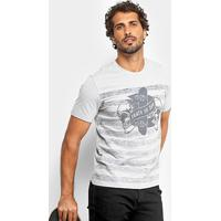Camiseta Mood Striped Skull Masculina - Masculino 2e24b724103