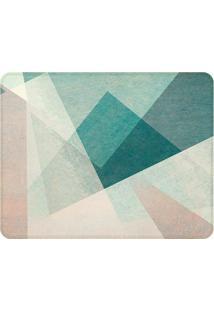 Tapete Abstract- Verde Água & Cinza Claro- 125X90Cm