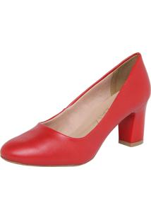 b81539991a Scarpin Fosco Vermelho feminino