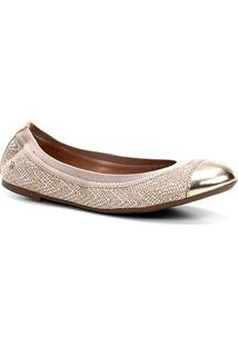 Sapatilha Shoestock Elástico Feminina - Feminino-Bege