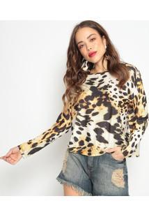 Blusa Animal- Marrom & Preta- Morena Rosamorena Rosa