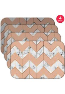 Jogo Americano Love Decor Wevans Marble Geometric Kit Com 4 Pçs