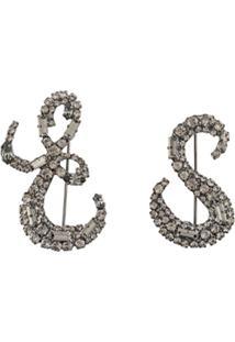 Ermanno Scervino Crystal Embellished Brooch - Metálico