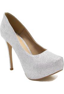 Sapato Zariff Shoes Numeração Grande Prata