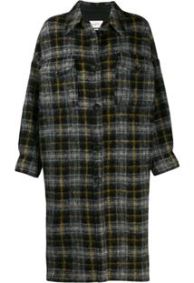Isabel Marant Étoile Checked Pattern Coat - Preto