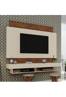 Painel Para Tv Suspenso Tb115 Off White/Nobre - Dalla Costa
