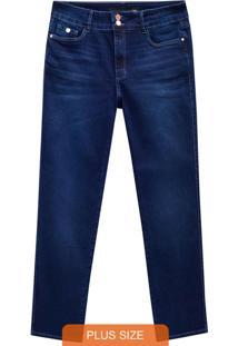 Calça Azul Jeans Reta