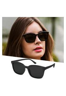 Óculos De Sol Isabela Dias Quadrado Preto Flexivel 210