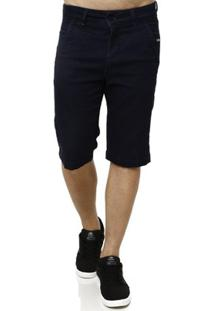 Bermuda Jeans Moletom Masculina - Masculino-Azul