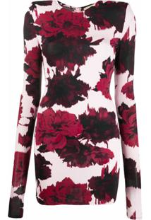 Alexandre Vauthier Vestido Com Estampa Floral - Rosa