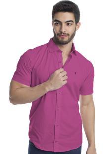 Camisa Tony Menswear Logo Pink