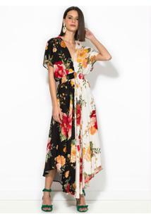 Vestido Cropped Floral Betina Estampado