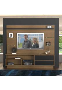 Estante Para Tv Até 55 Polegadas 2 Gavetas 104710 Imbuia/Preto - Foscarini