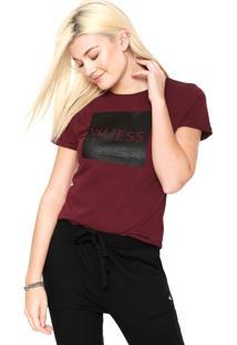 Camiseta Guess Quadrado Vinho - Kanui