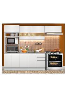Cozinha Compacta Madesa Marselha 8 Portas 3 Gavetas (Sem Tampo E Pia) Branco