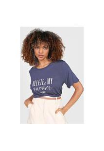 Camiseta Colcci Delete My Number Azul-Marinho