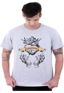 Camiseta Hardivision Coração Sagrado Manga Curta - Masculino
