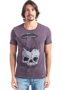 Camiseta Abduzido Bordô