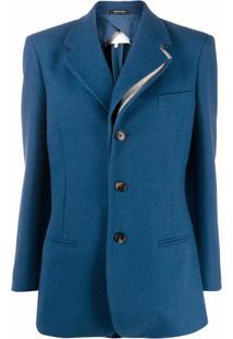 Maison Margiela Blazer Com Sobreposição - Azul