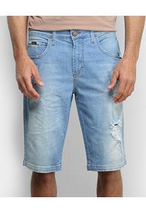 Bermuda Jeans Forum Delavê Destroyed Masculina - Masculino