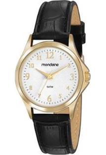 Relógio Mondaine 83474Lpmvdh1 Feminino - Feminino-Preto+Dourado