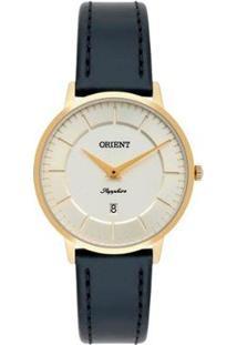 Relógio Orient Ref: Fgscs002 C1Px Feminino - Feminino-Dourado+Azul