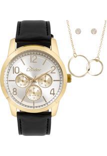 308ad7545b1 E Clock. Relógio Condor Technos Cori Clock Feminino Preto ...