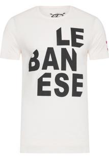Camiseta Masculina Lebanese - Off White