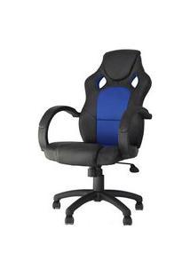 Cadeira Office Racer Preta E Azul - 27712 Preto E Azul