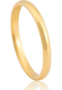 Aliança De Ouro 18K Anatômica Abaulada Polida Lisa (2,20Mm)