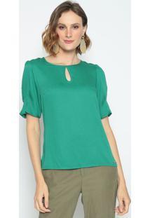 Blusa Com Vazado- Verde- Vip Reservavip Reserva