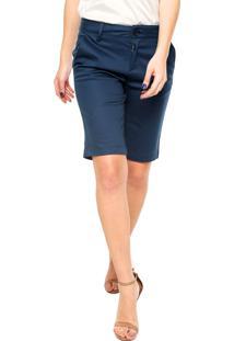 Bermuda Calvin Klein Jeans Reta Azul