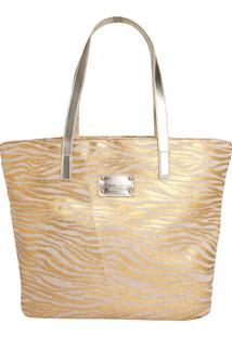 Bolsa Colcci Zebra Dourada