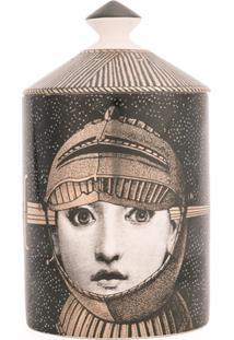 Fornasetti Vela Com Suporte De Cerâmica 'Armatura' - Preto