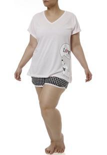 Pijama Curto Plus Size Feminino - Feminino
