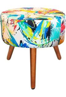 Puff Decorativo Angel Redondo Estampado Color D18 - D'Rossi