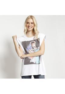 "Camiseta ""Is There Life On Mars"" - Branca & Preta- Mm. Officer"