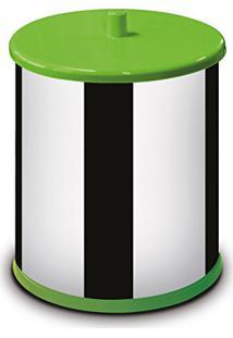 Lixeira 3,2 Litros Com Tampa E Fundo Verde 54300V-03 - Martinazzo