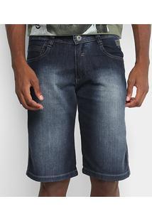 Bermuda Jeans Gangster Masculina - Masculino-Azul