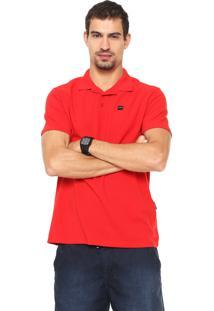 Camisa Polo Oakley Patch Vermelha