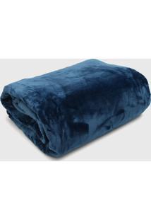 Cobertor Casal Kacyumara Blanket 600 Azul - Azul - Dafiti